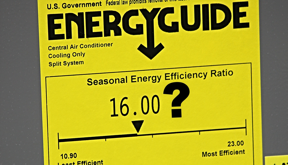 energy efficiency, seer rating