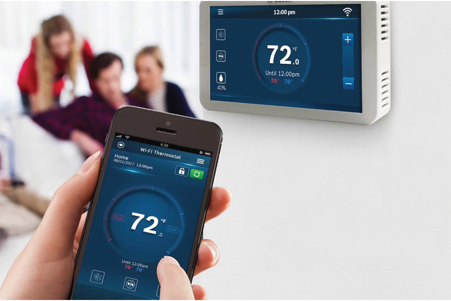 WiFi Thermostats, thermostats, furnace thermostats, thermostats for heat pumps