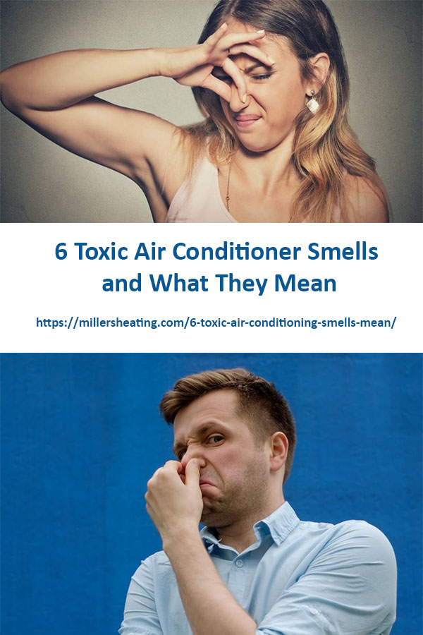 What's that awful smell? When your central air conditioner smells bad, it's never a good sign, and definitely not good for your health. Even worse, some smells are toxic, and require urgent attention. #AC #smells #safety @millersheatingair