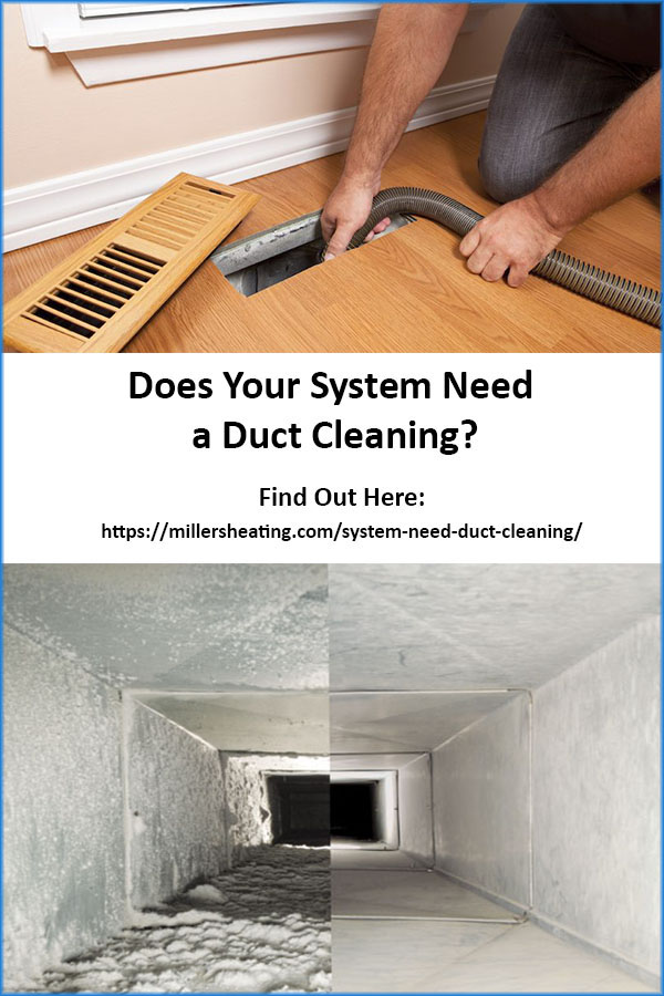 It is important for the indoor air quality of your home as well as your health to get your ductwork cleaned every 5-7 years. Studies have shown that the levels of some hazardous pollutants can be 70 times greater in indoor air. #ductcleaning #HVAC #ductwork @millersheatingair