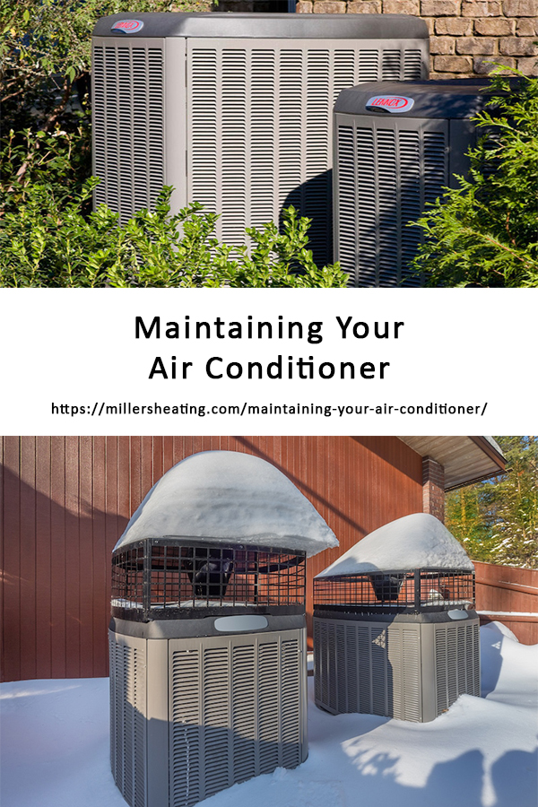 Air conditioners require maintenance especially on its coils, filters and fins. Otherwise the wear and tear on your system can cause your air conditioner to not run as effectively and/or breakdown leading to needed air conditioner repairs. In this article, we will discuss what you can do to maintain your air conditioner unit so it will run effectively for years to come. #AC #maintenance #HVAC @millersheatingair