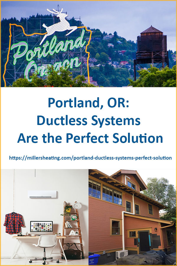 Ductless mini-split systems are the fastest growing products in the American HVAC market. Why has it become so popular? Ductless systems are an advanced technology that are up to 40% more efficient than traditional systems, easy to install and can be custom designed for your home. #ductless #PDX #HVAC @millersheatingair