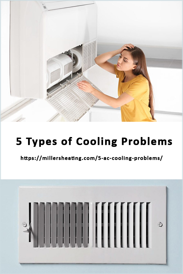 Is your home cooling not working? Learn about the five common reasons why your AC is broken and what you can do about it. #AC #cooling #issues @millersheatingair