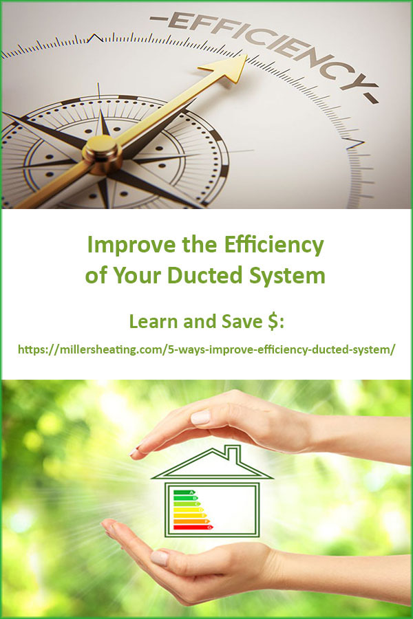 Not only will a highly efficient system keep your system running longer, but it will also help your wallet in the meantime by lowering your utility bills. #HVAC #ductedsystem #energyefficient @millersheatingair
