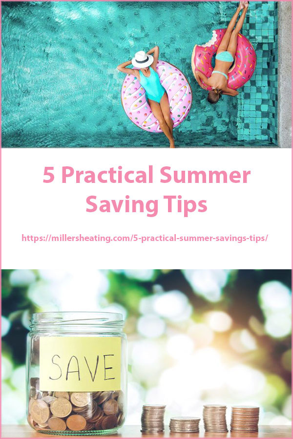 Don't overspend on utility bills this summer while trying to cool your home. Here are five easy ways to get summer savings on your AC or heat pump. #summersavings #HVAC #tips @millersheatingair