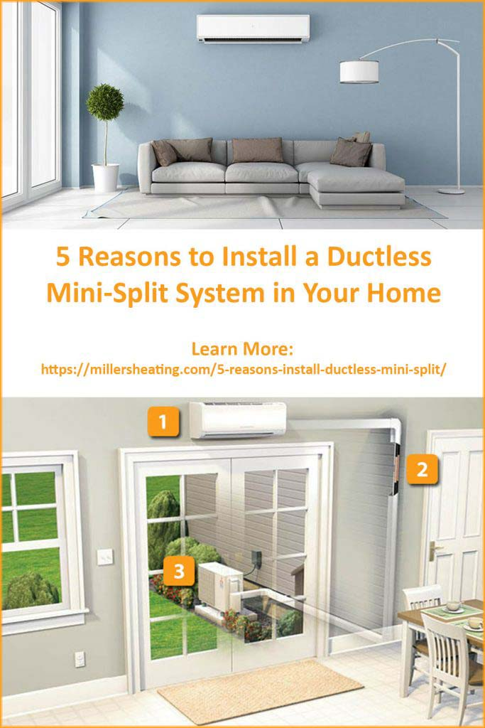 Did you know that ductless mini-split systems can be up to 40% more efficient than traditional HVAC systems? Learn all the reasons why you should install a ductless mini-split in your home. #ductless #energysavings #HVAC @millersheatingair