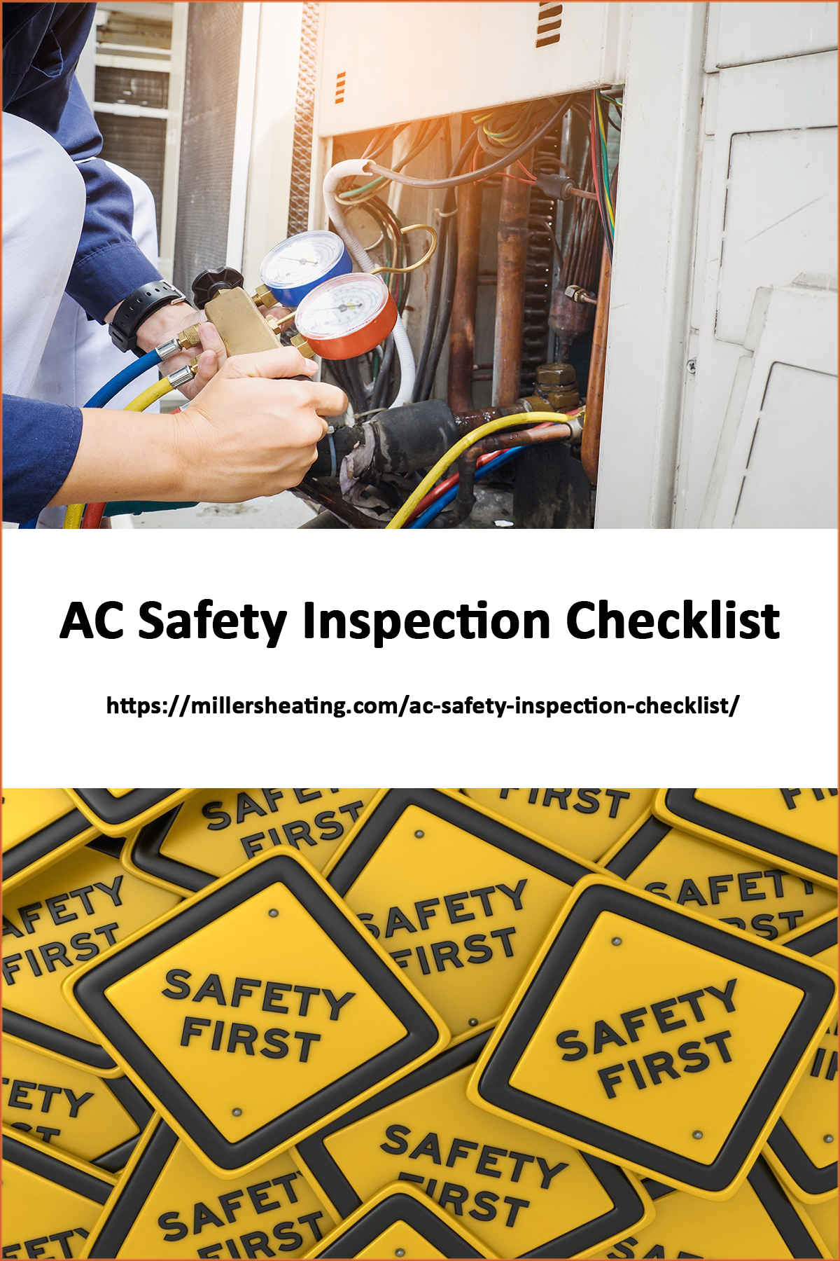 A reputable and licensed HVAC company should provide an ac safety inspection during an annual maintenance of your air conditioner.  #AC #safety #inspection @millersheatingair